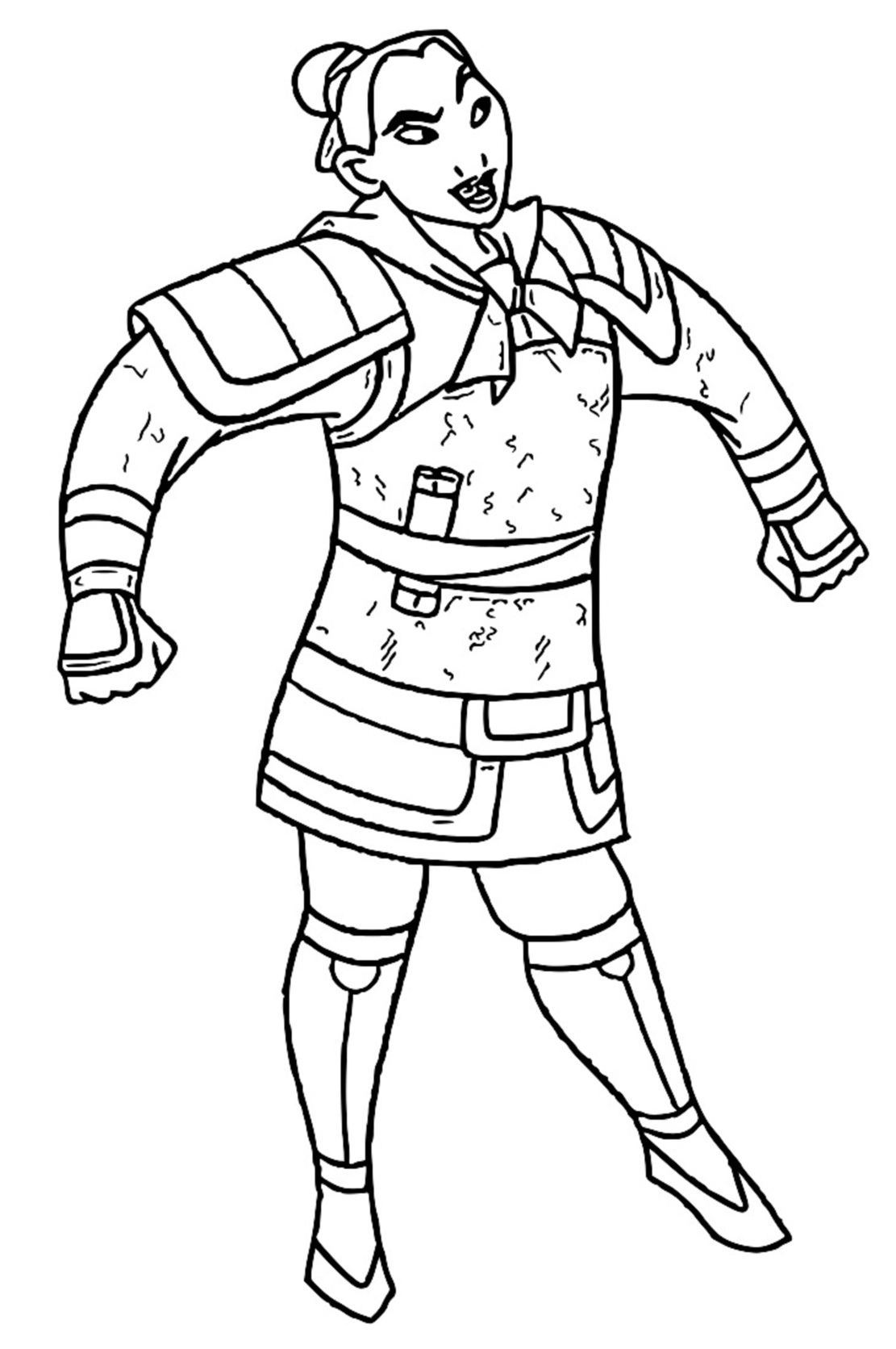 Mulan Khan Little Brother Coloring Page 04