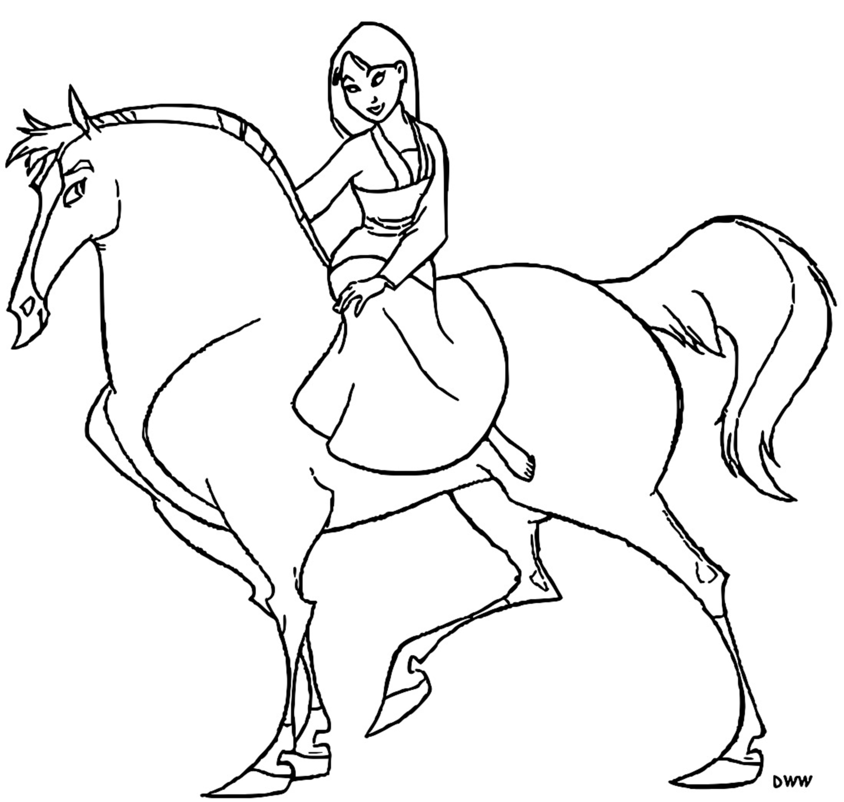 Mulan Khan Little Brother Coloring Page 11