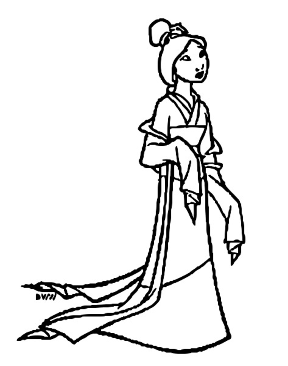 Mulan Khan Little Brother Coloring Page 22