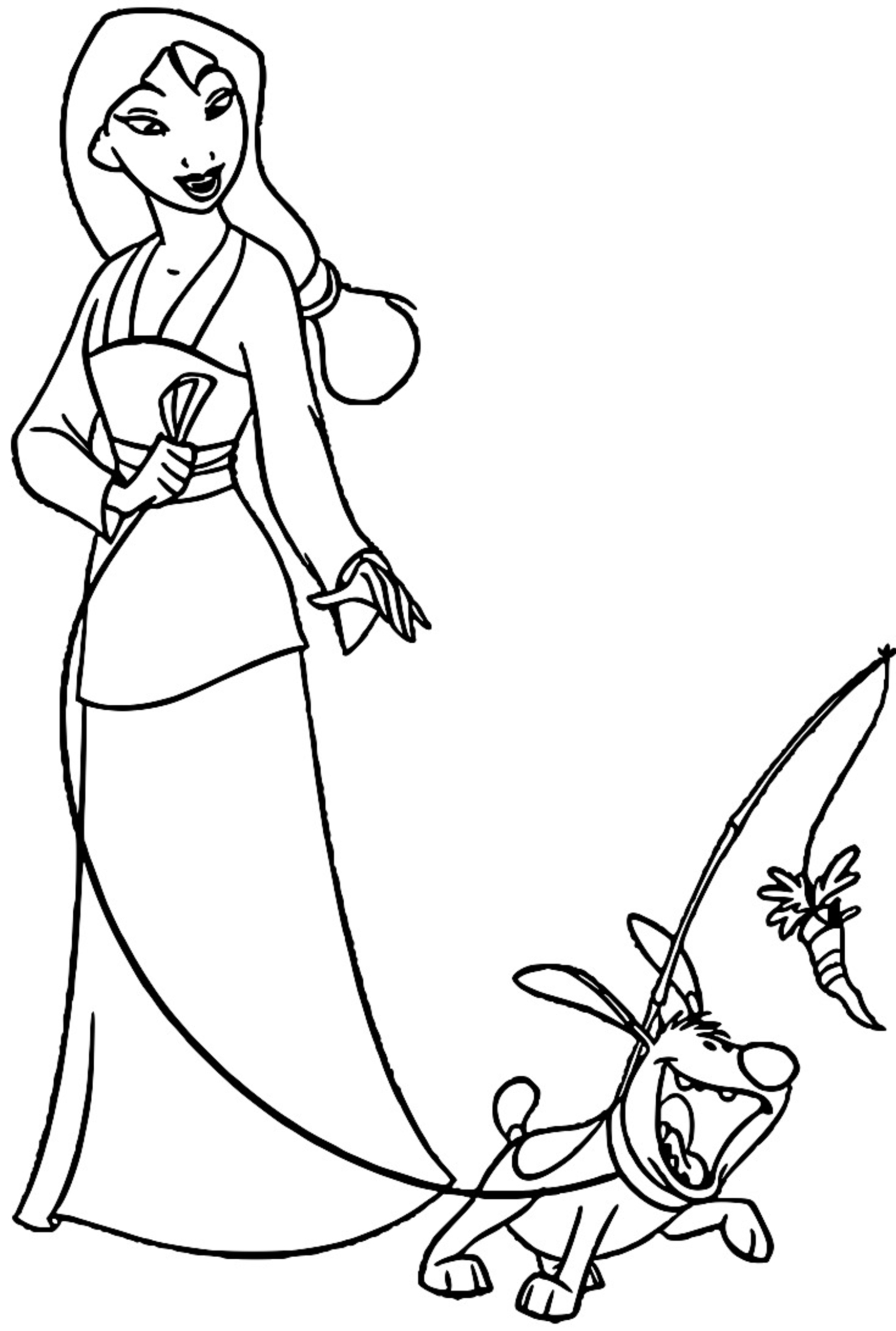 Mulan Khan Little Brother Coloring Page 27