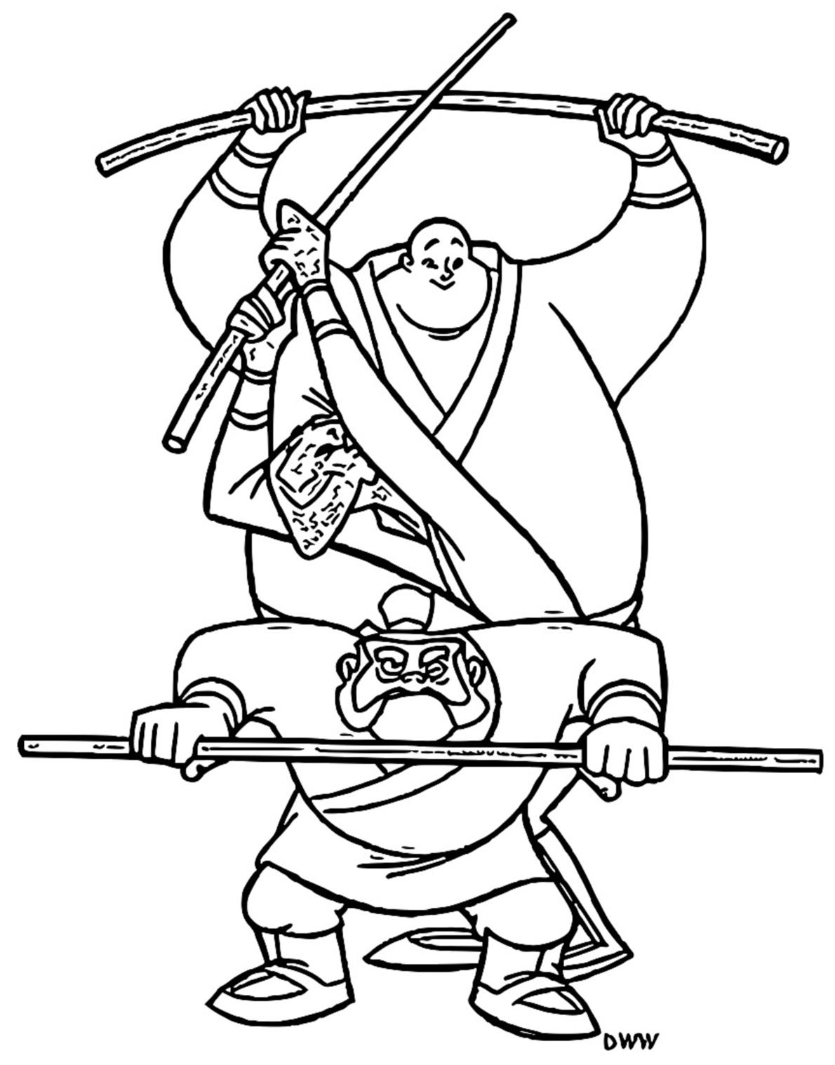 Mulan Yao Ling Chien Po Coloring Page 5