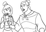 Mulan and Shang 5 Coloring Page