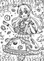 Aikatsu Girl Manga Coloring Page