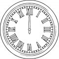 Clock Roma Number Coloring Page