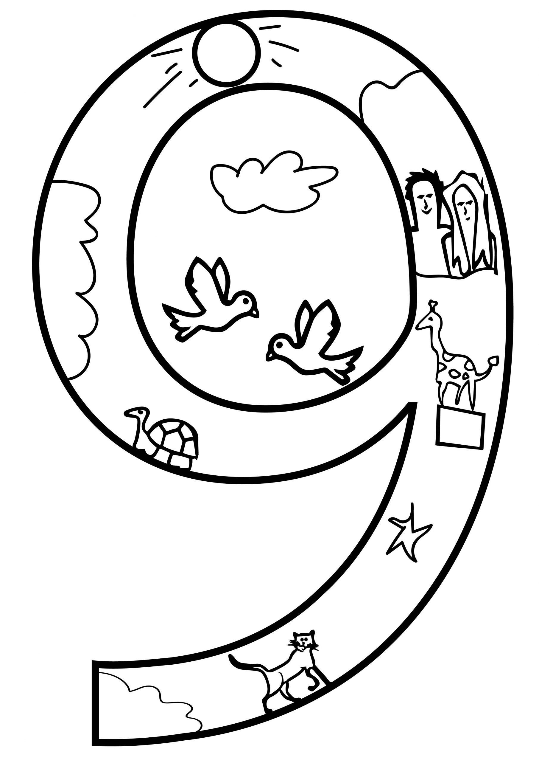 Day Number Nine 9 Coloring Page 01