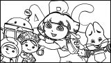 Nickelodeon Lets Learn Abc Coloring Page