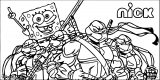 Nickelodeon Now Has Turtle Power Coloring Page