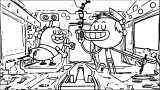 Nickelodeon S Breadwinners Rises Number One Coloring Page