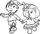 Noddy Cartoon Coloring Page 006