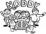 Noddy Cartoon Coloring Page 009