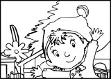 Noddy in Tayland Coloring Page
