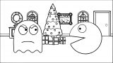 Pacman Room Ghost Coloring Page