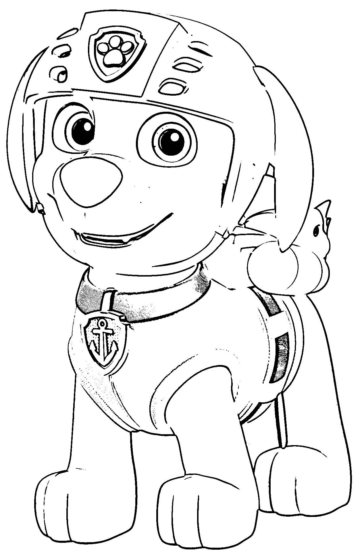 Paw Hr Coloring Page