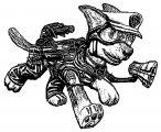 Paw Patrol Chase Render Metadragonart Dopd Coloring Page