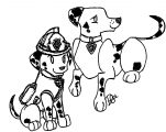 Paw Patrol Marshall Maikoforev Dwxtz Coloring Page