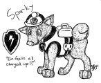 Sparky Paw Patrol Oc Edit Maikoforev Dwevf Coloring Page