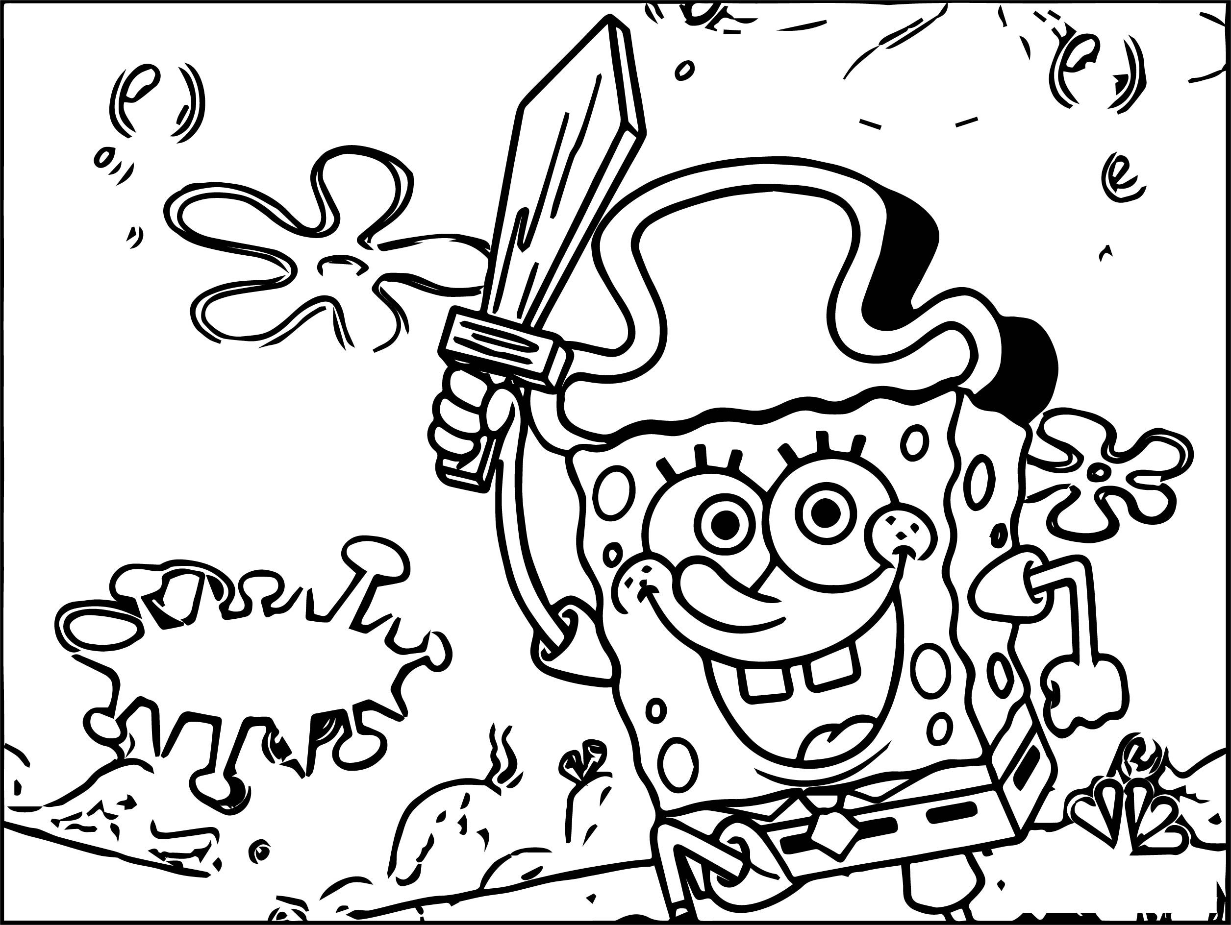 Square Pants Nickelodeon Coloring Page