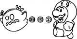 Super Mario Pacman Ghost Coloring Page