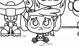 Very Cute Small Teen Titans Go Baby Coloring Page