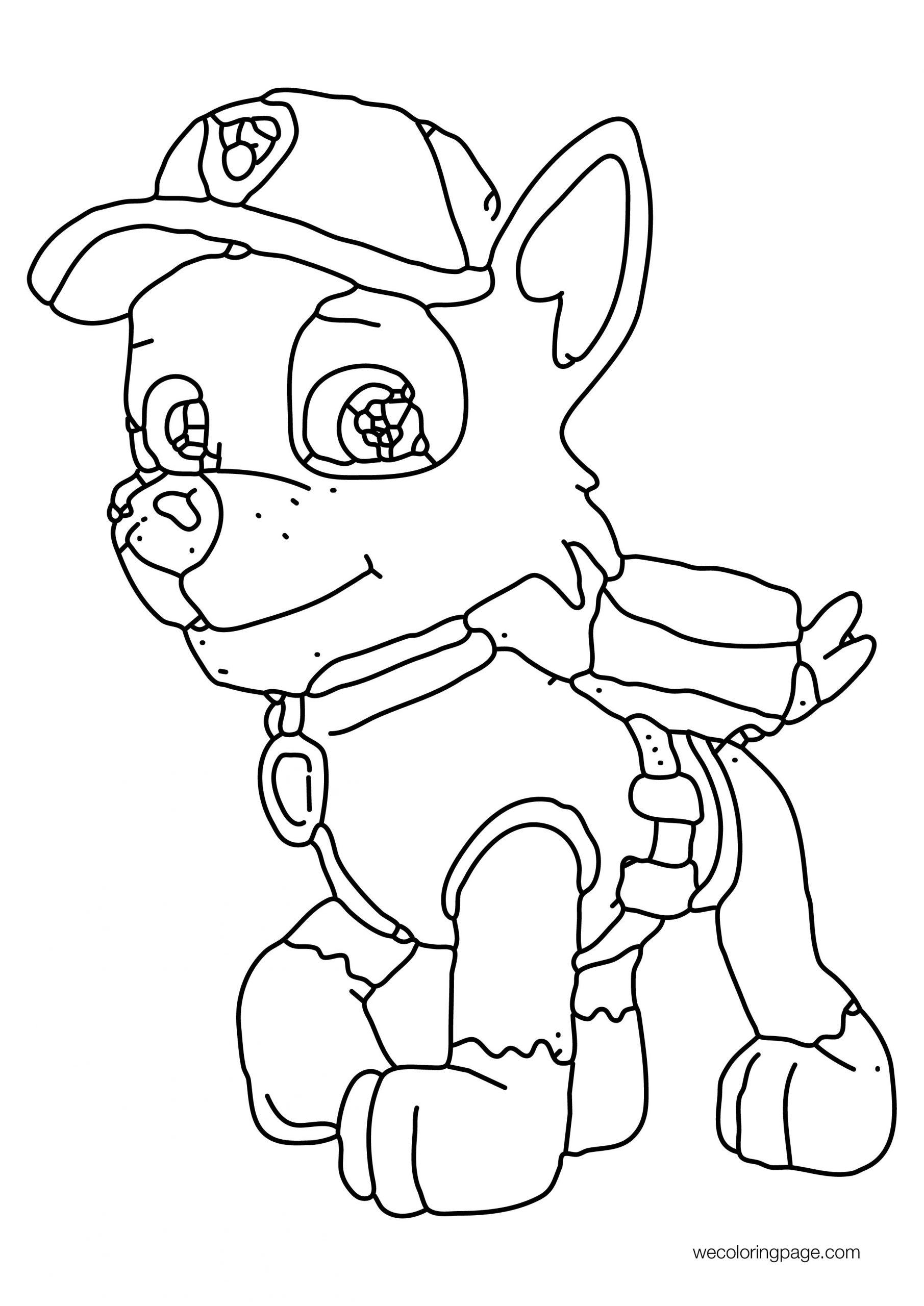 Walking Default Paw Patrol Dog Coloring Page