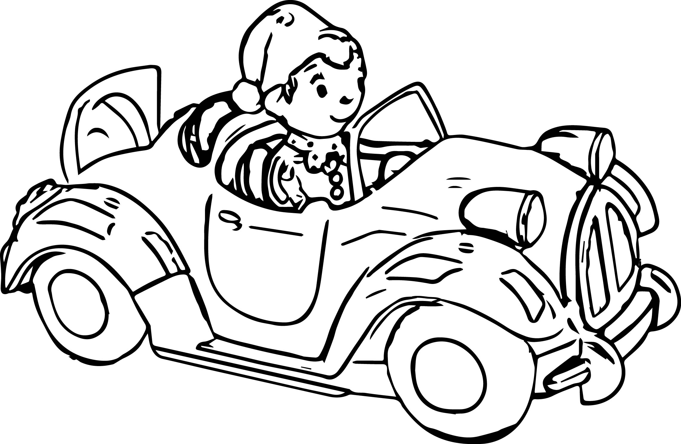 noddy and car coloring page