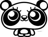 panda moshlings coloring page