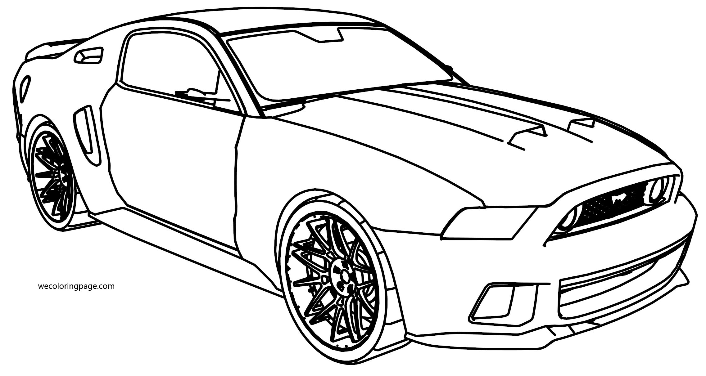 Ford Mustang Perspective Coloring Page