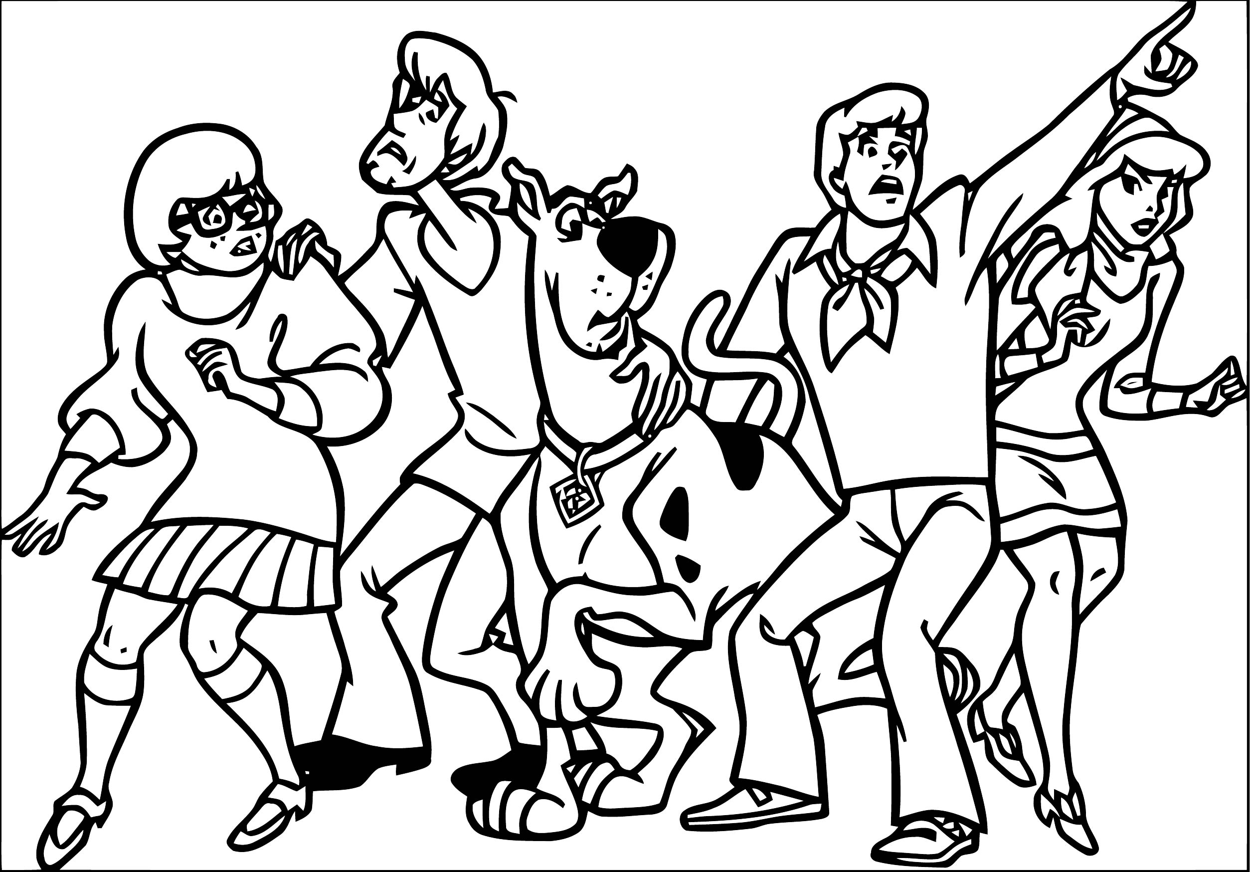 Free Scooby Doo Coloring Page WeColoringPage 017
