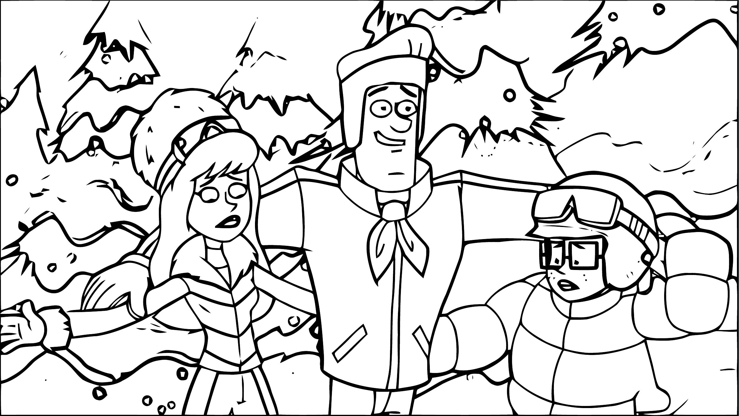 Free Scooby Doo Coloring Page WeColoringPage 029