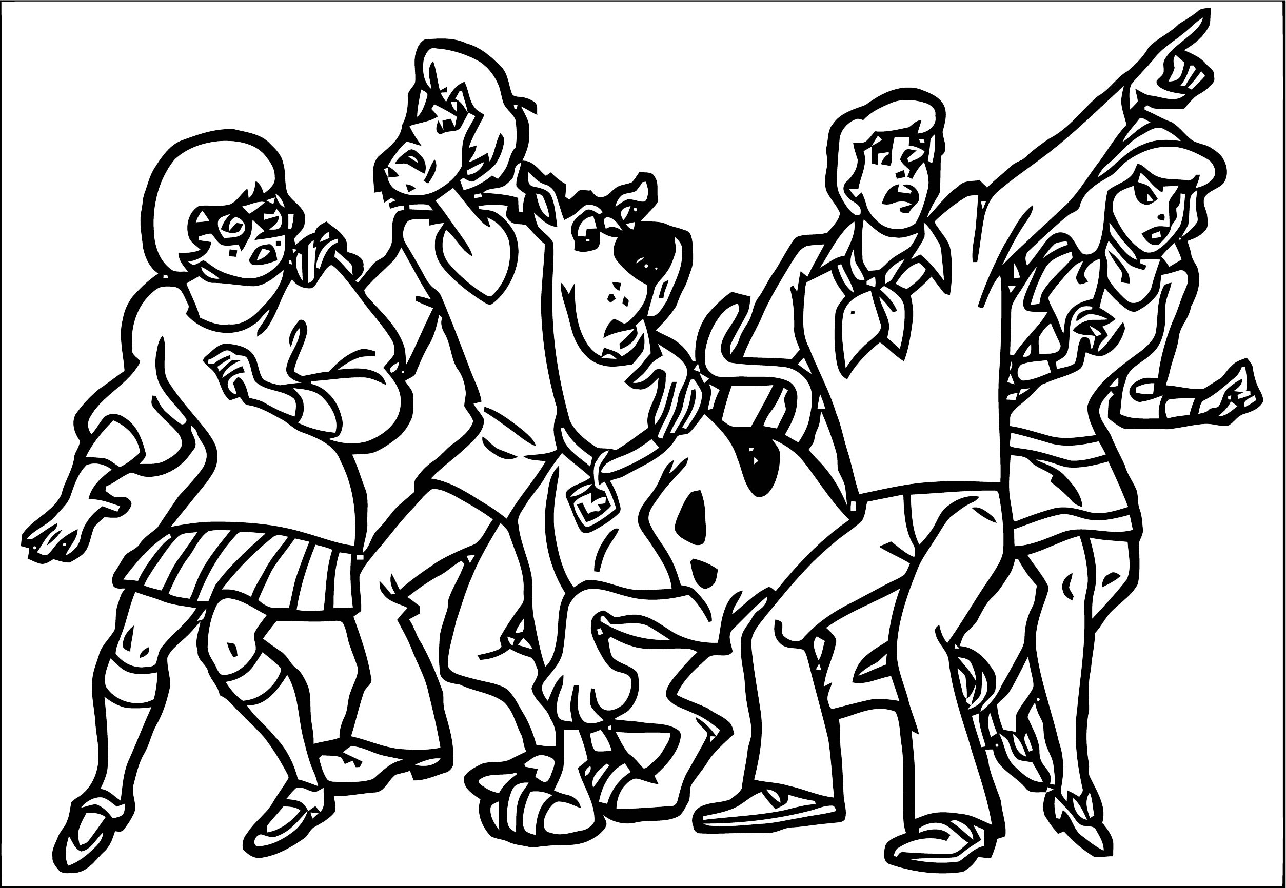 Free Scooby Doo Coloring Page WeColoringPage 109