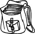 Or School Bag Coloring Page