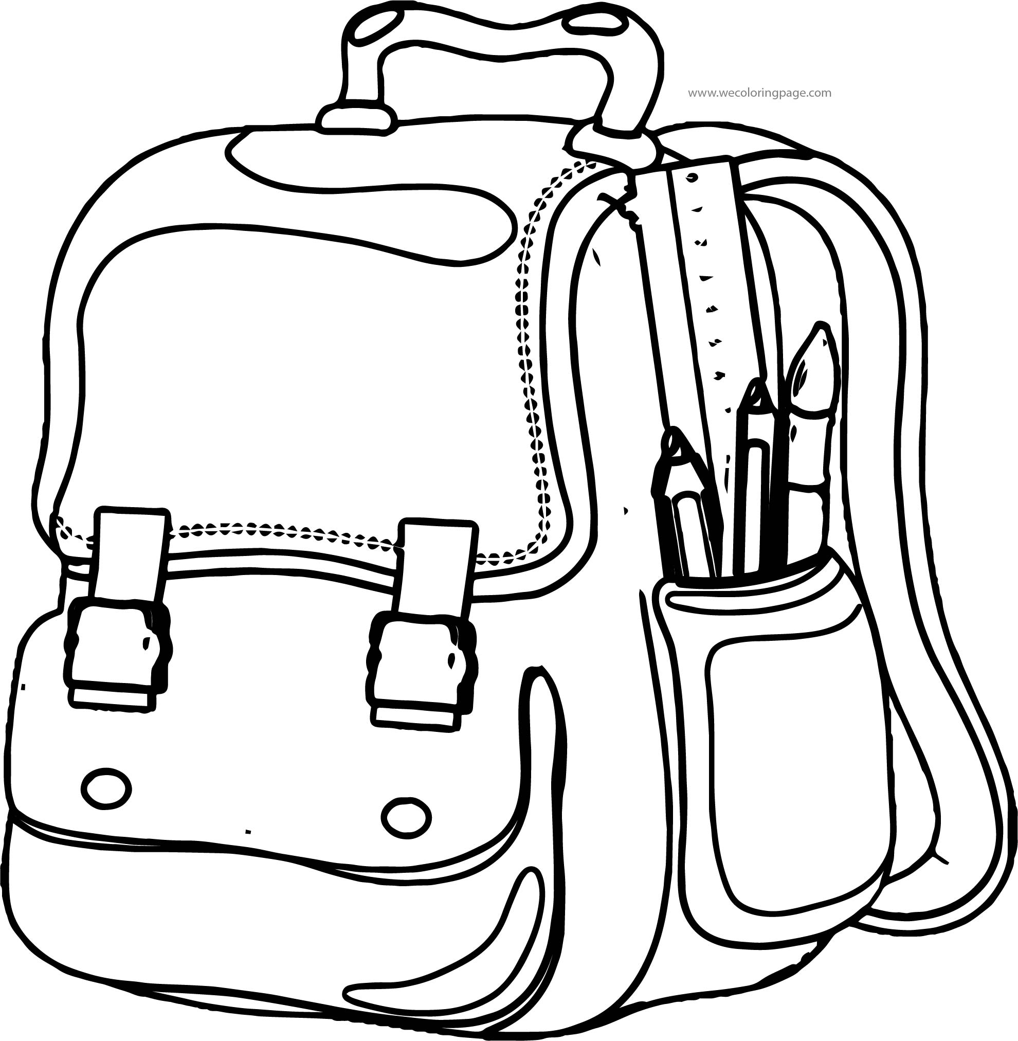 Out School Bag Coloring Page