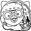 Pororo Coloring Page 6 Oval