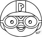 Pororo Face Fanart Cartoon Coloring Page