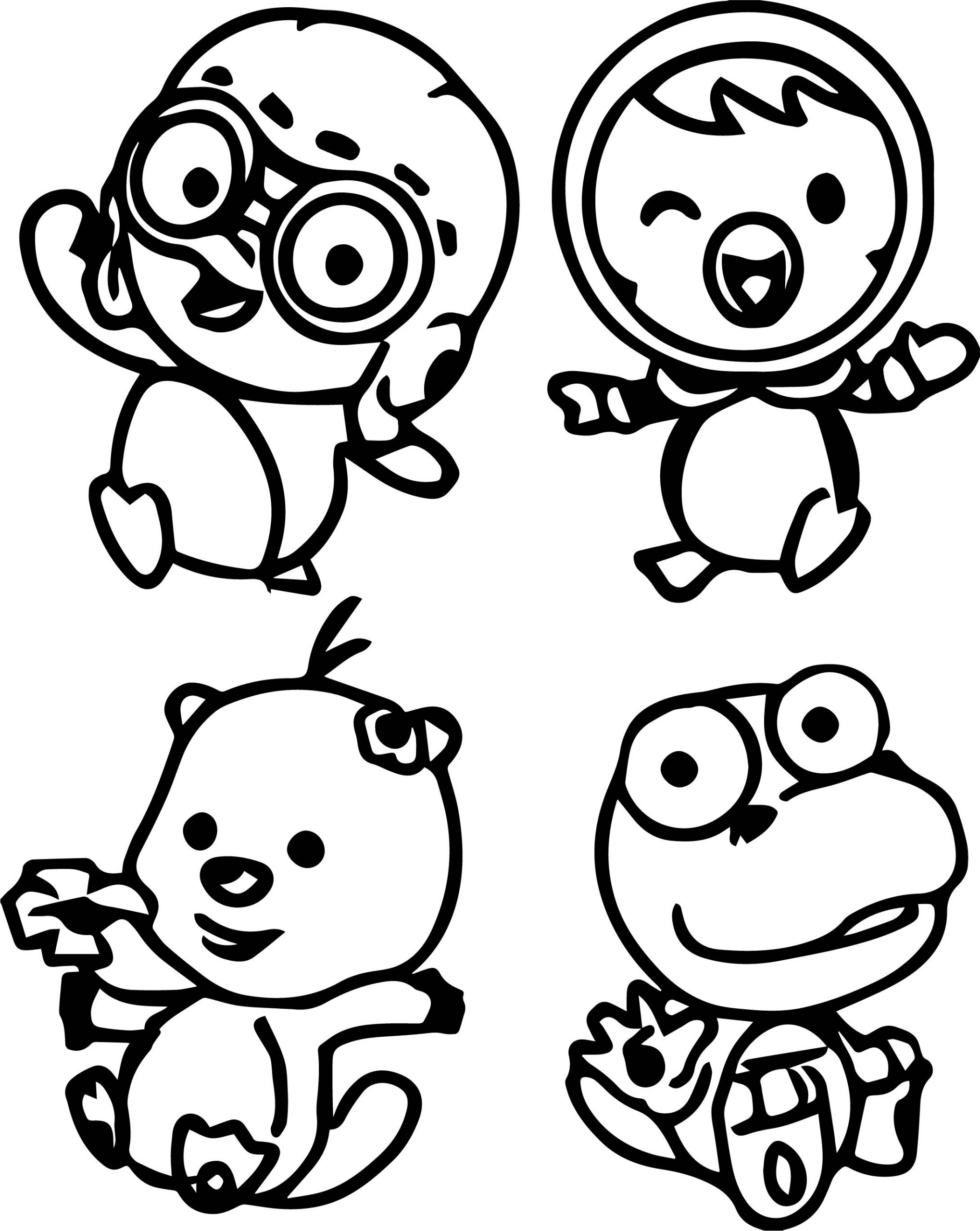 Pororo Family Coloring Page