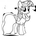 Princess Twilight Sparkle Coloring Page 007