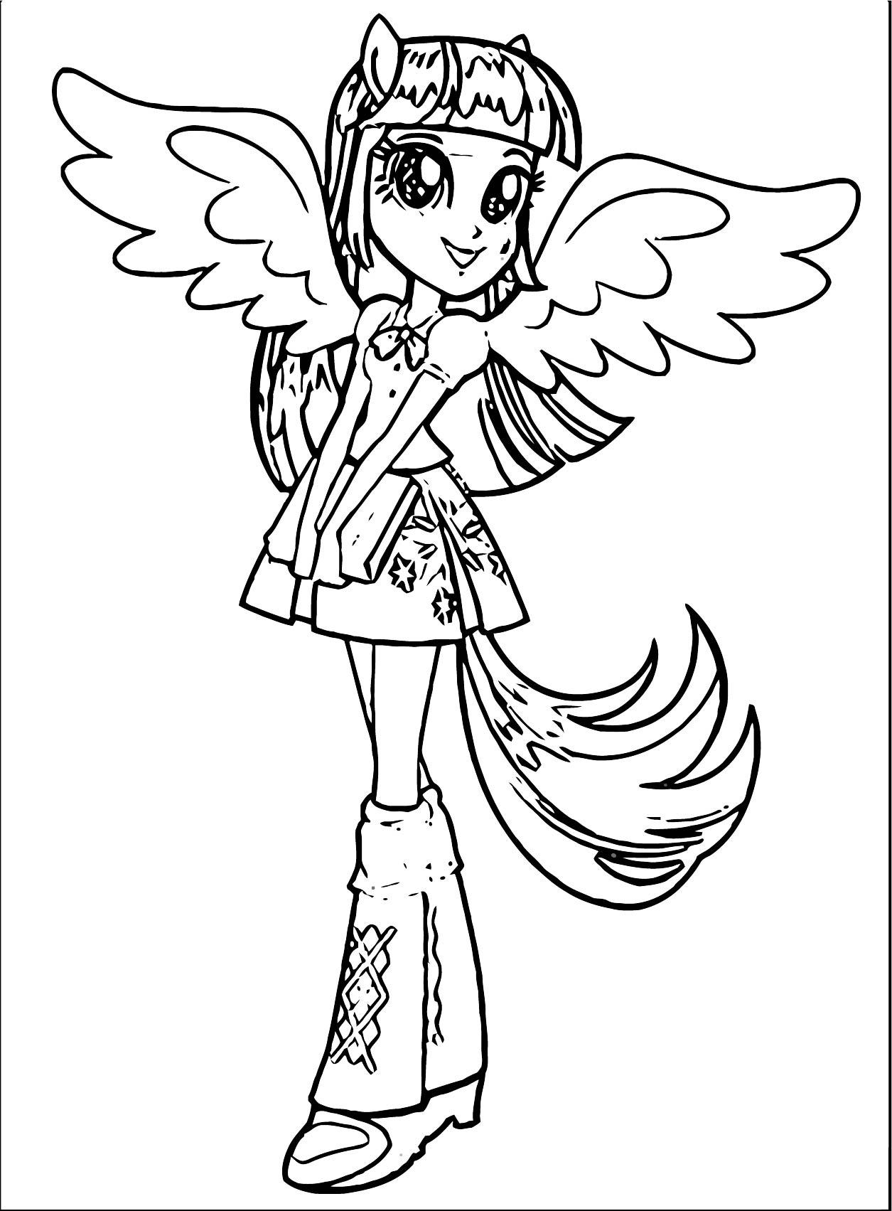 Princess Twilight Sparkle Coloring Page 014