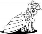 Princess Twilight Sparkle Coloring Page 031