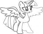Princess Twilight Sparkle Coloring Page 044