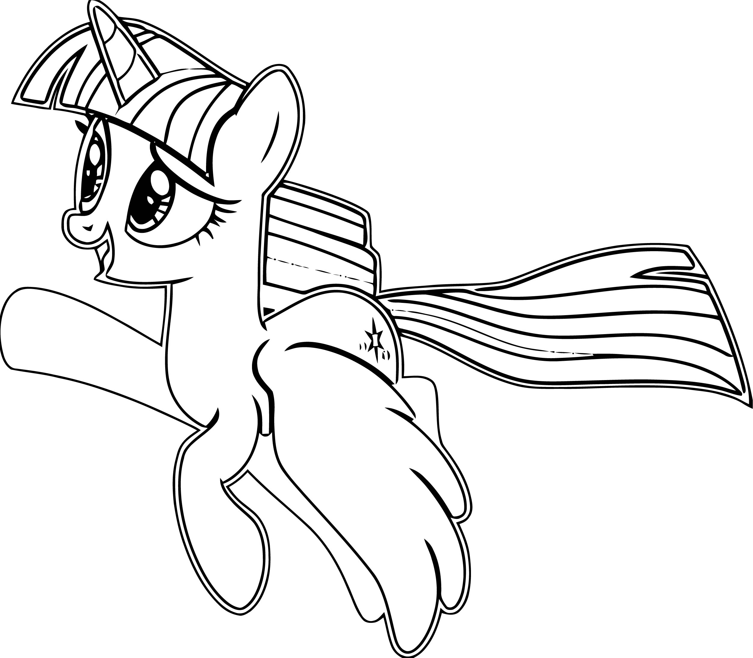 Princess Twilight Sparkle Coloring Page 094