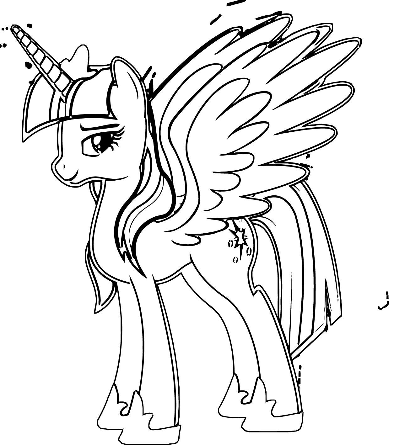 Princess Twilight Sparkle Coloring Page 265