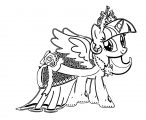 Princess Twilight Sparkle Coloring Page 323