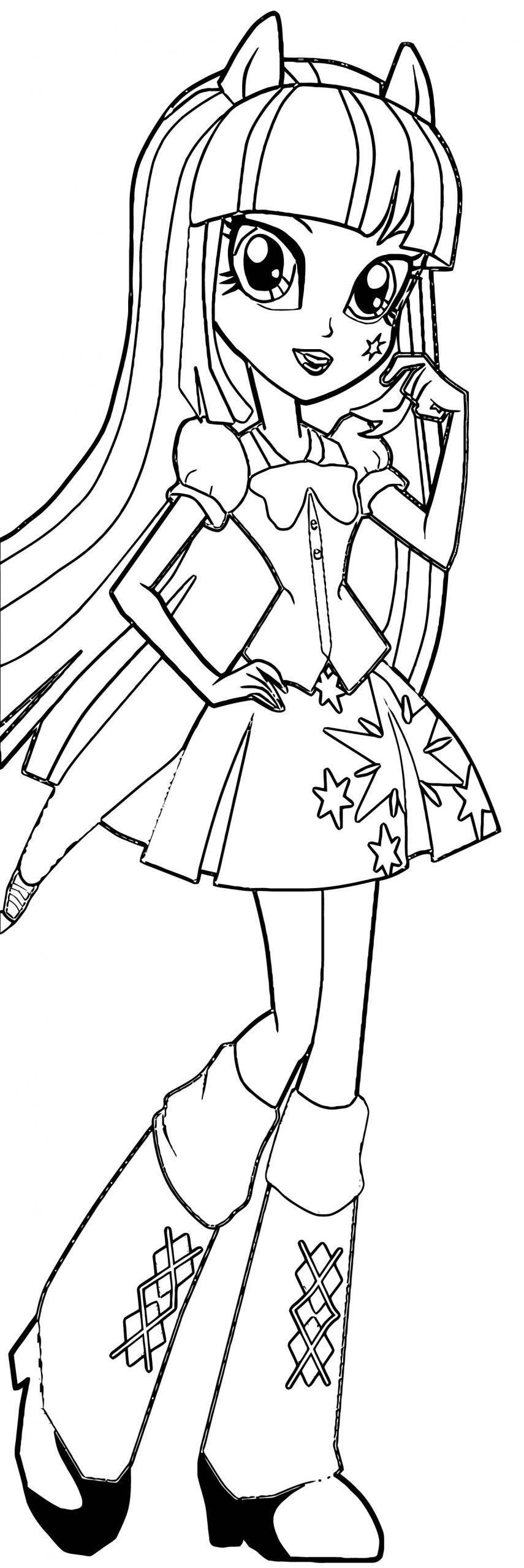 Princess Twilight Sparkle Coloring Page 453