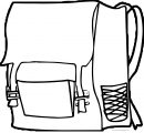 Right School Bag Coloring Page