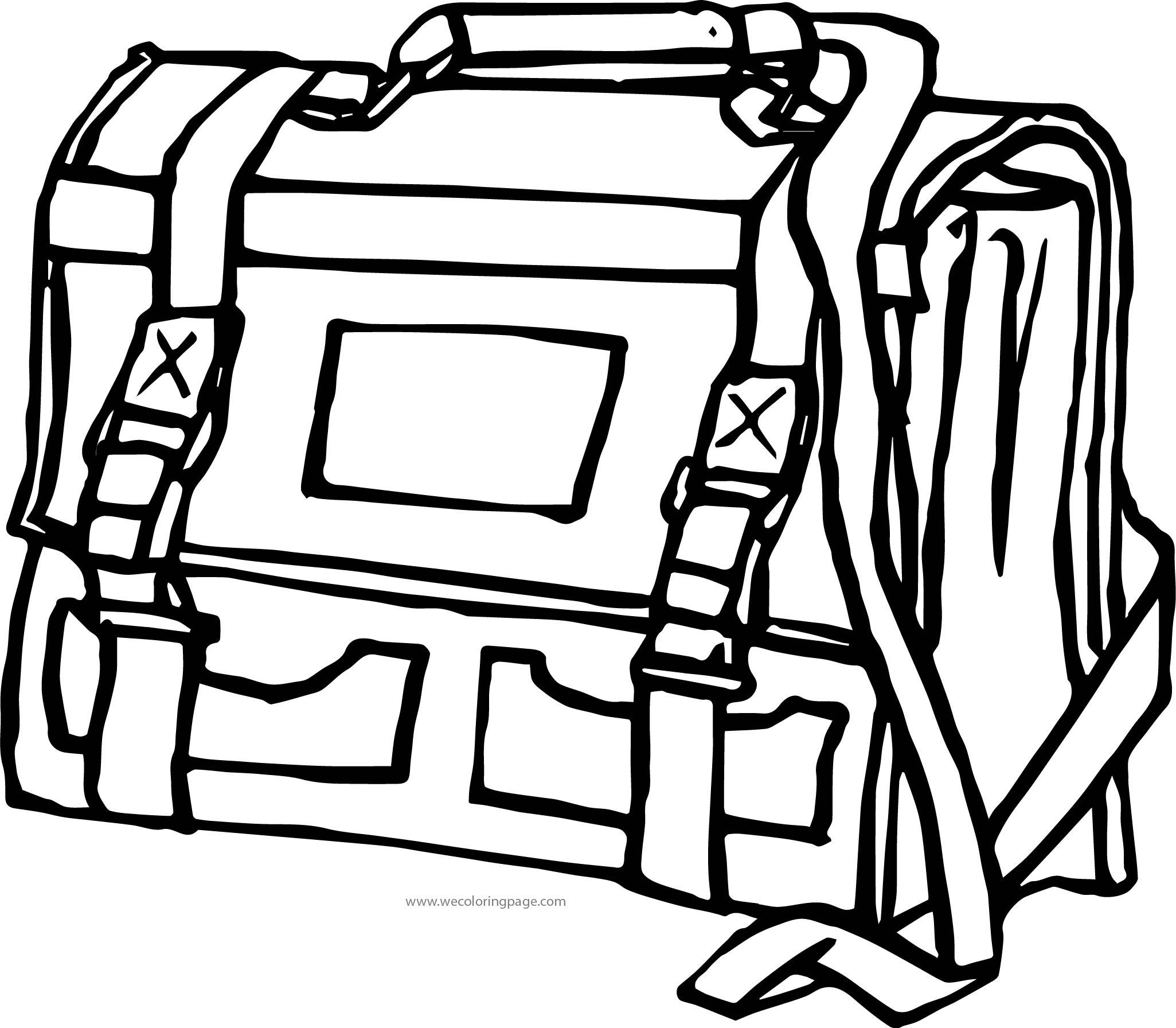 School Bag Coloring Page 10