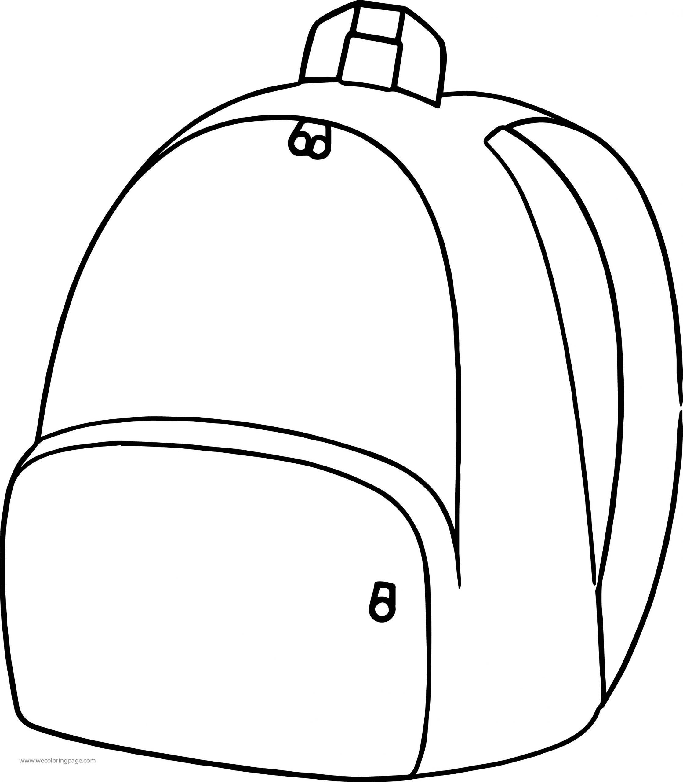 School Bag Coloring Page 14