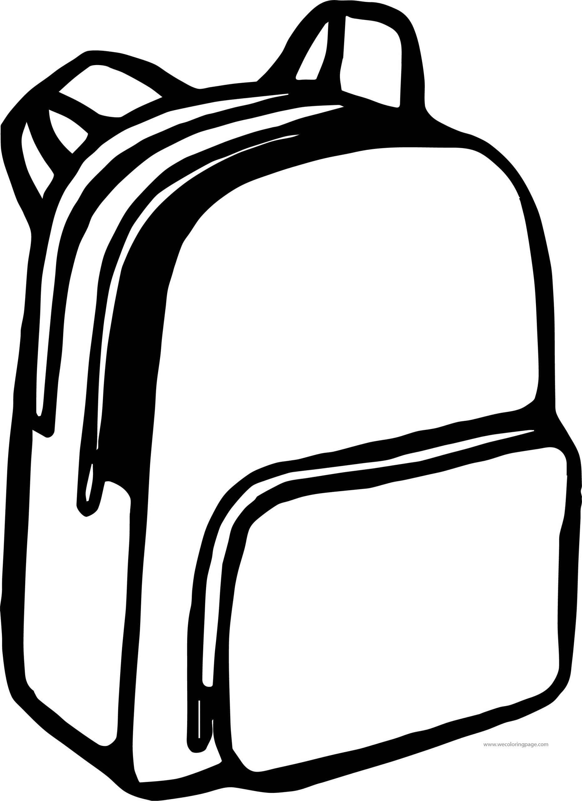School Bag Coloring Page 43