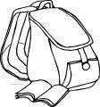 School Bag Coloring Page 47