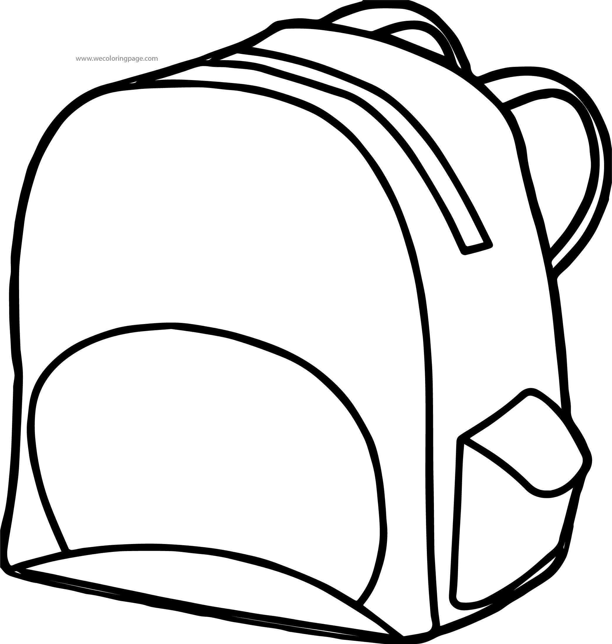 School Bag Coloring Page 69