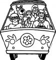 Scooby Doo Gang In Car Coloring Page